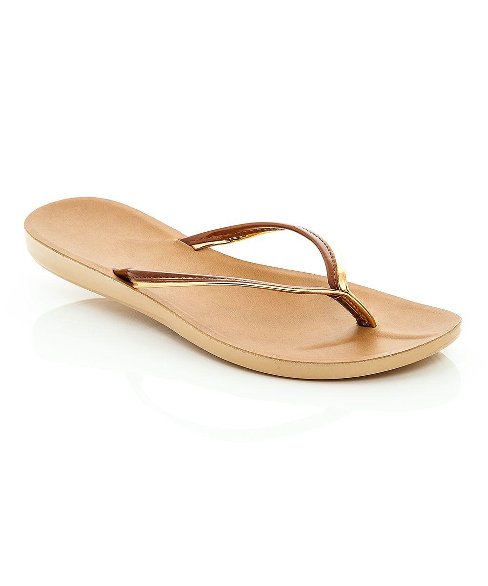 Bronze Flip Sandal