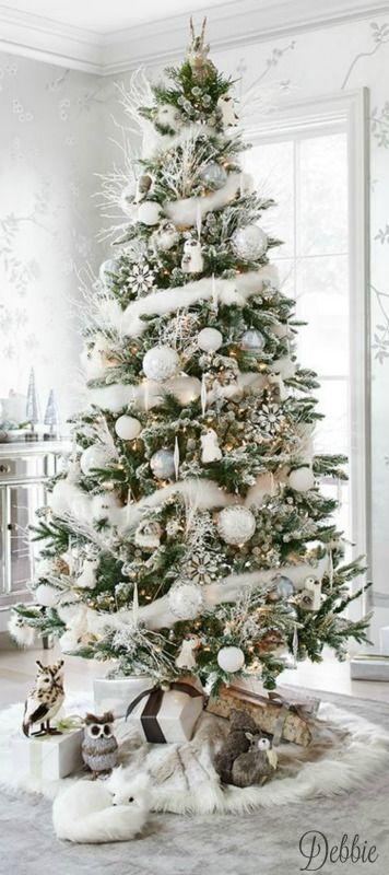 White Christmas Debbie Ideas Para Arboles De Navidad Arboles De Navidad Ideas Decoracion De Arboles