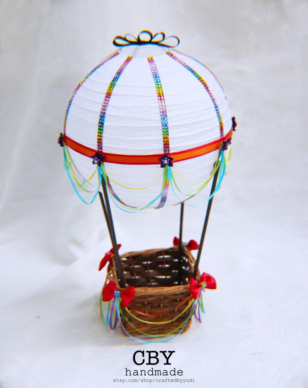Hot Air Balloon Baby Shower Centerpiece - RAINBOW // Hot ...