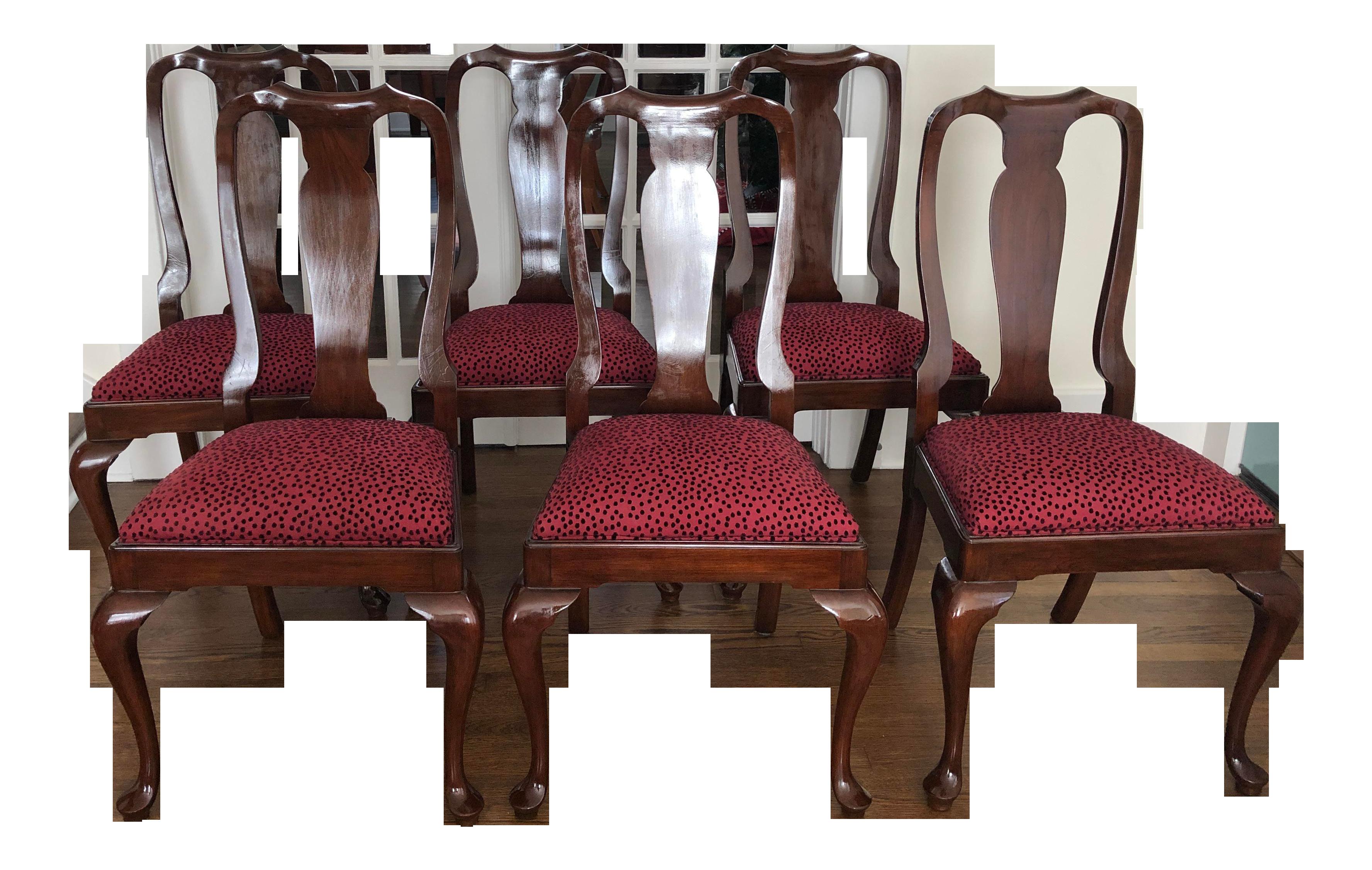 Admirable Henkel Harris Wild Black Cherry Dining Chairs Set Of 6 In Inzonedesignstudio Interior Chair Design Inzonedesignstudiocom
