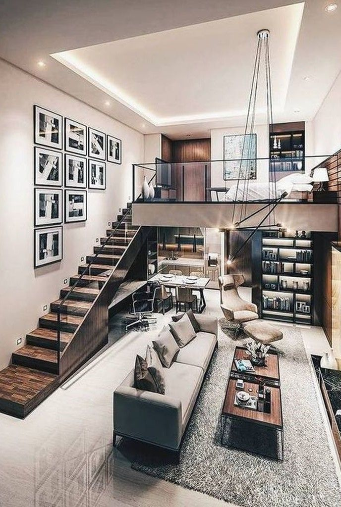 30 Awesome Loft Bedroom Apartment Decoration Ideas Matchness Com Tiny House Interior Design Loft Design Industrial Loft Design