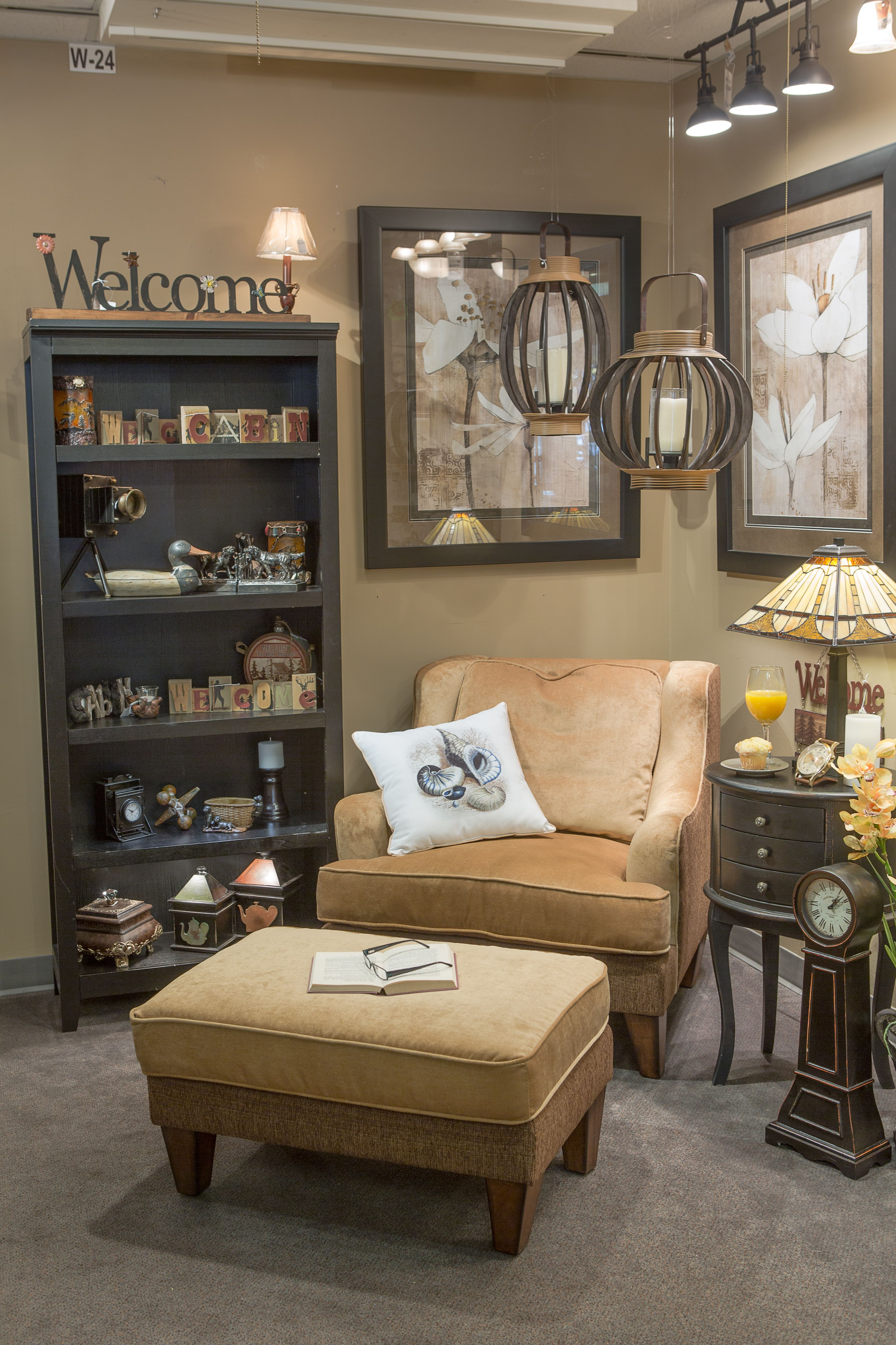 Cozy chair and ottoman make for a cozy corner in any room ...