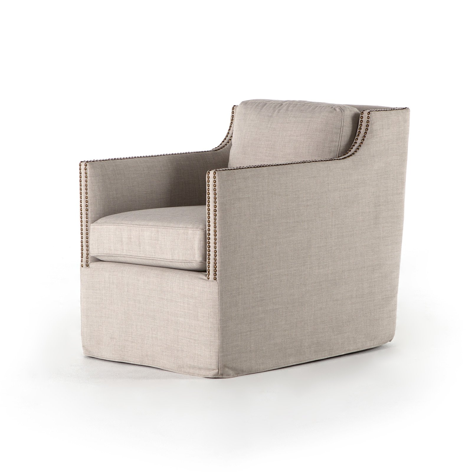 Four Hands Lucca Upholstered Swivel Accent Chair In 2019