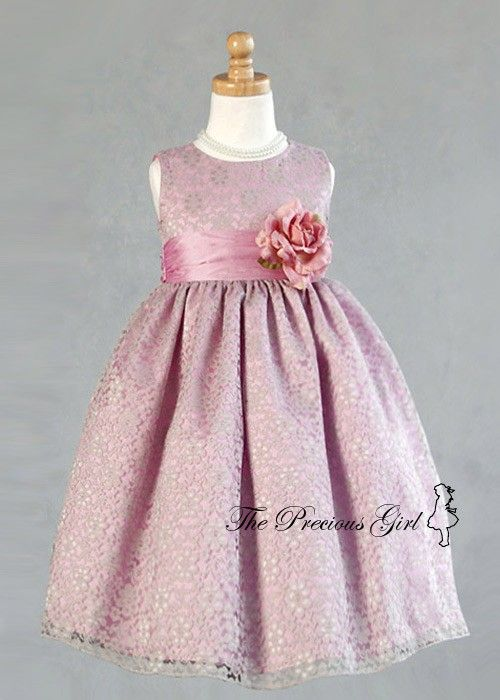 7d91a3dcb dusty rose flower girl dress | anniversary | Flower girl dresses ...