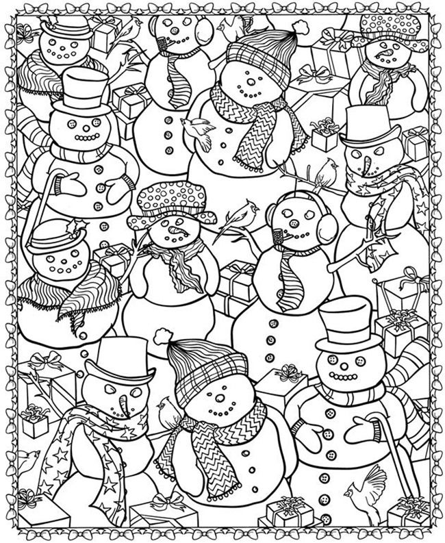 Coloring Pages Snowman Tips