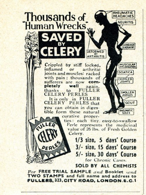 Thousands of human wrecks have been saved, by celery  | Old