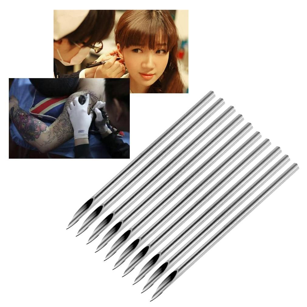 100pcs Disposable Tattoo Piercing Needles Sterilized Body Piercing Needle Medical For Navel Nipple Ear Nose Lip Body Tattoo Tool Tattoo & Body Art Tattoo Accesories