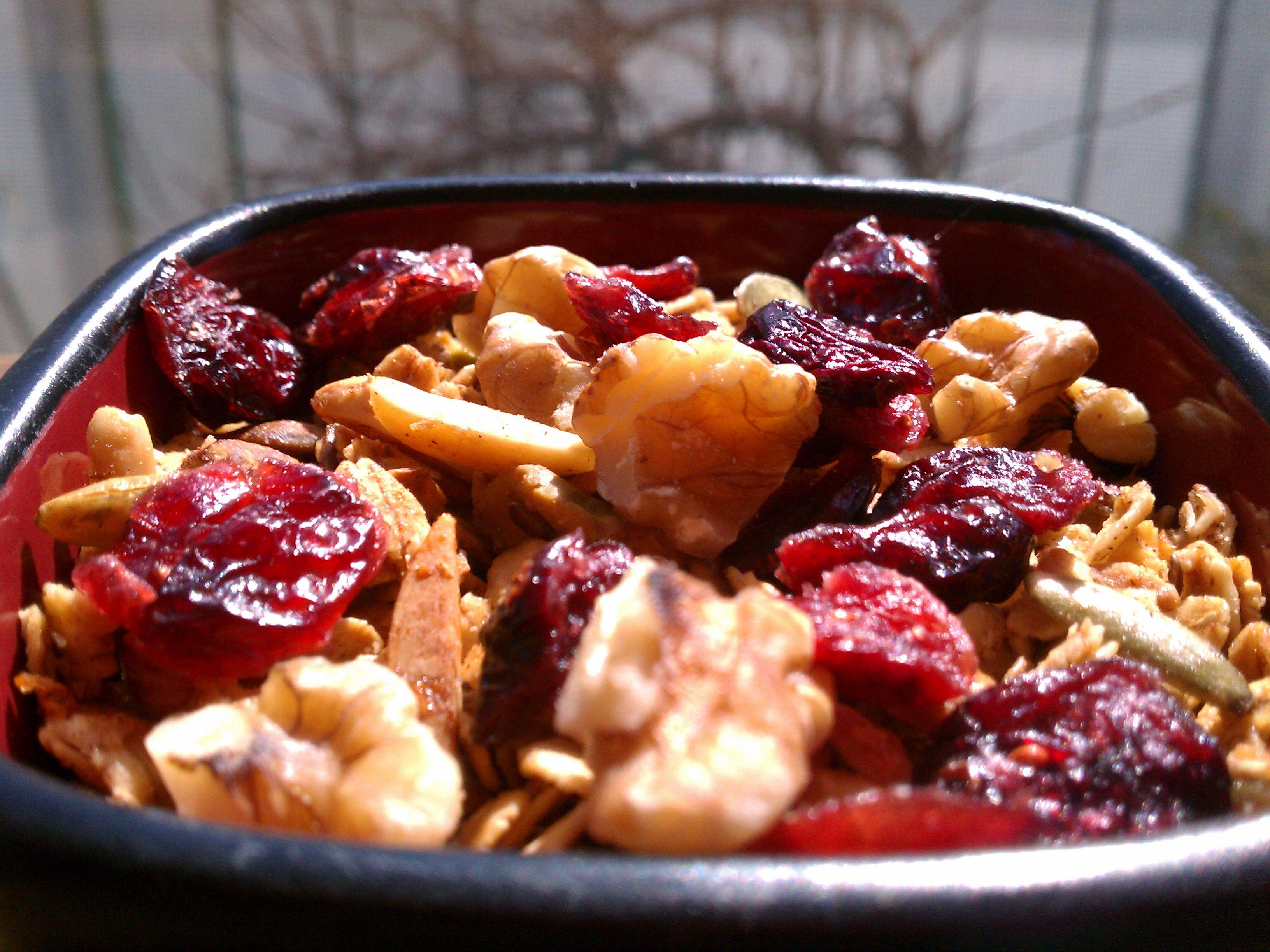 Cranberry Cinnamon Granola Goodness!