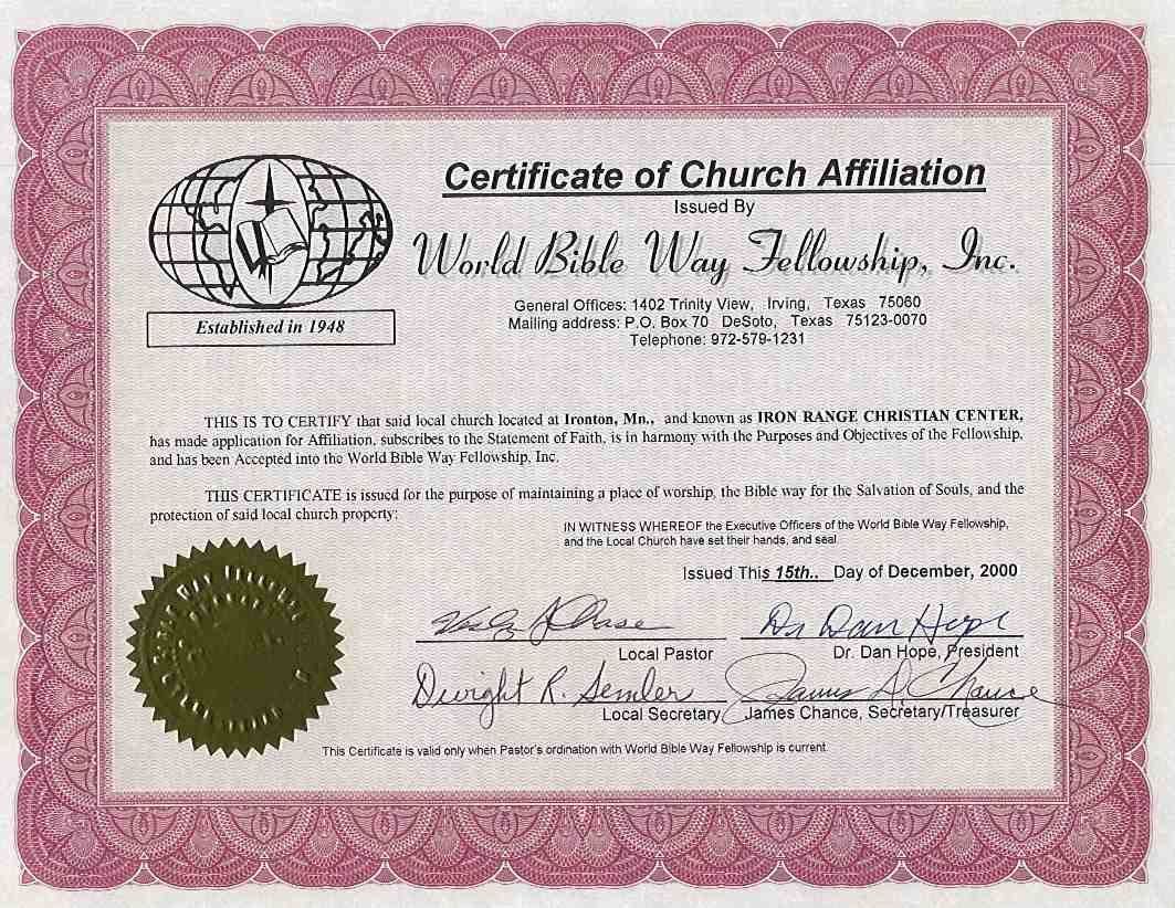 Appreciation To Speakers Sample Certificate Of Pictures Church – Sample Membership Certificate