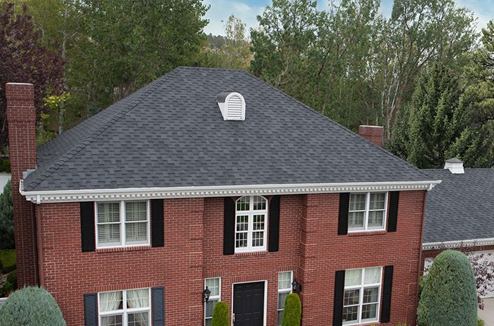 Windsor Midnight Black House Exterior Roof Installation House Styles