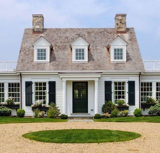 Cedar Roof. White Siding. Classic Cape. Patrick Ahearn