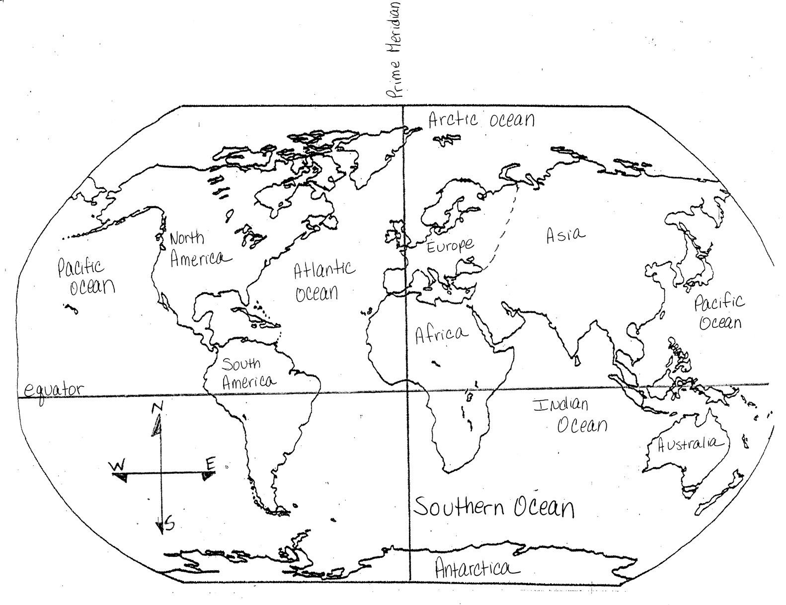 World Map Equator Prime Meridian Fresh Grade 5 Sample