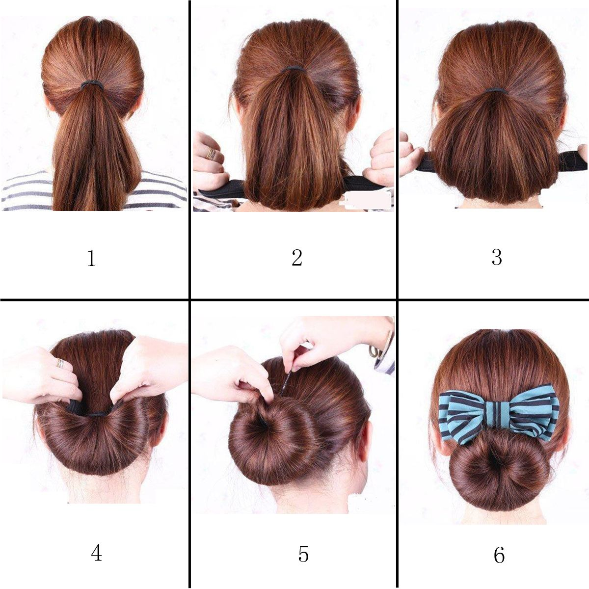 Black Color Foam Sponge French Twist Hairstyle Tool Hairstyle Must ...