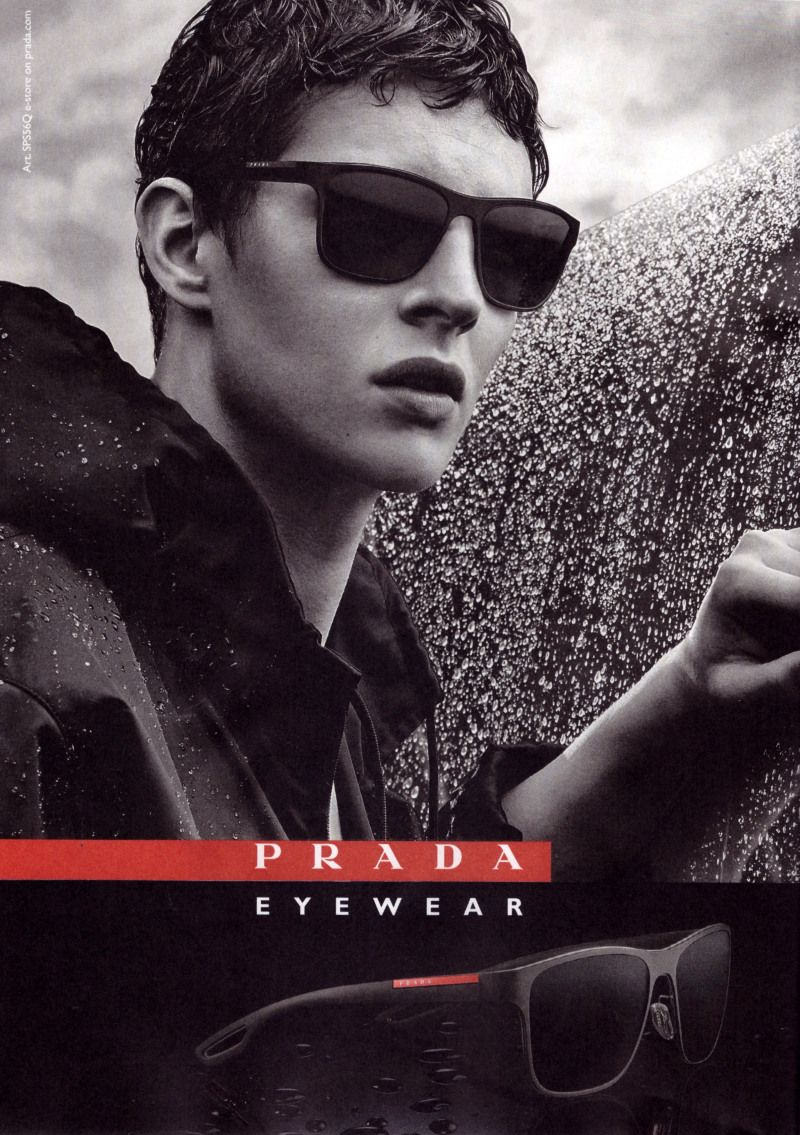 f2c39b5710b Tim Schuhmacher for Prada Fall Winter 2015 Eyewear Campaign