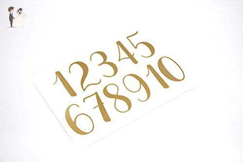 Vinyl Number Decals, Wedding Table Numbers, Choose Your ...