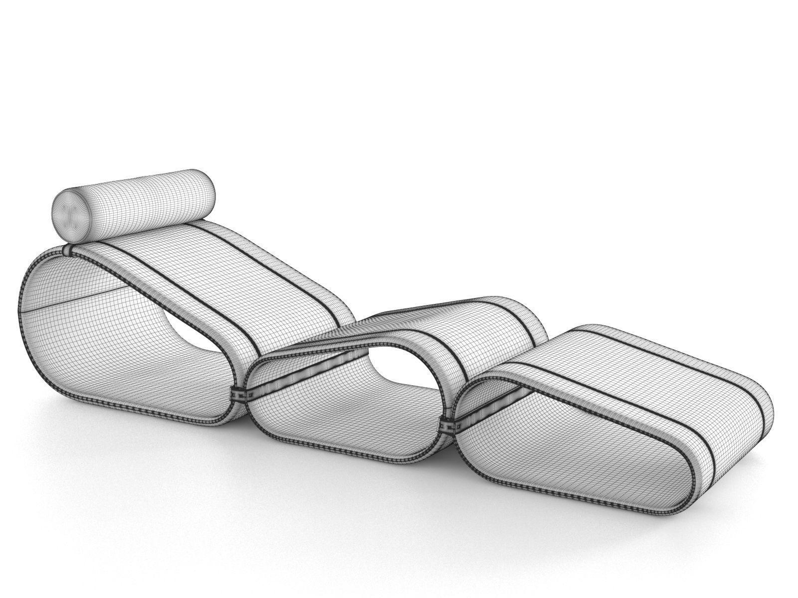 Chaise Longue By Marcel Wanders For Louis Vuitton 3d Model Max Obj C4d 6
