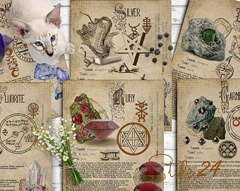 Photo of Book of Shadows, Printable pages of Crystals and Minerals, Witchcraft, BOS Sheets, Magic Potion, Spell Ingredient, Witch encyclopedia 6 DIY
