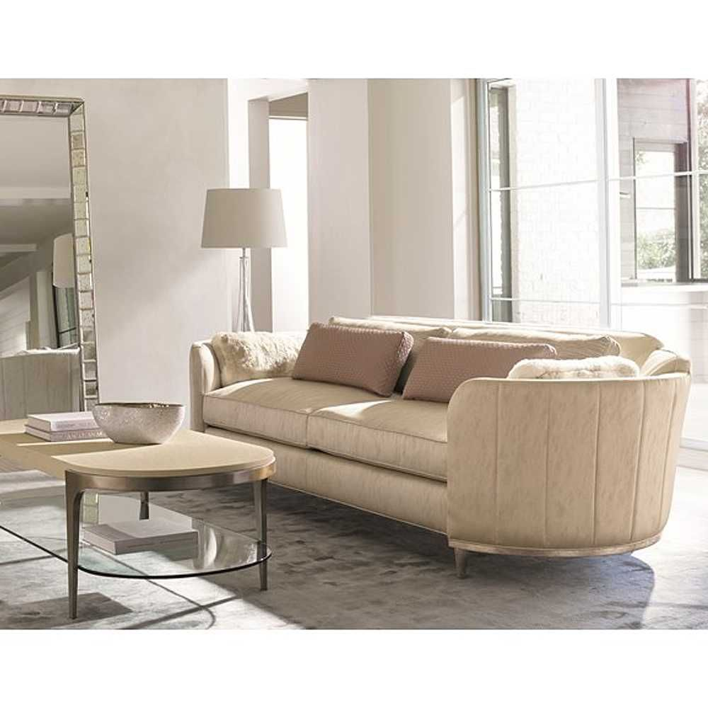 This Casually Elegant Sofa Offers Simple Repeating Design Elements Curl Up In Sublime Comfort Inviting Barrel Shaped Silhouette Offering On Trend