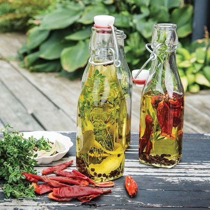 Herb Oil Herbs Seasoning Recipes Easy Homemade Gifts