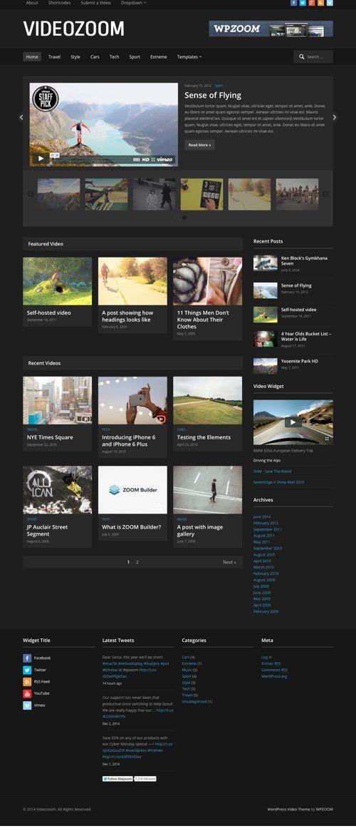 Best Multimedia & Video WordPress Themes | Wordpress Themes ...