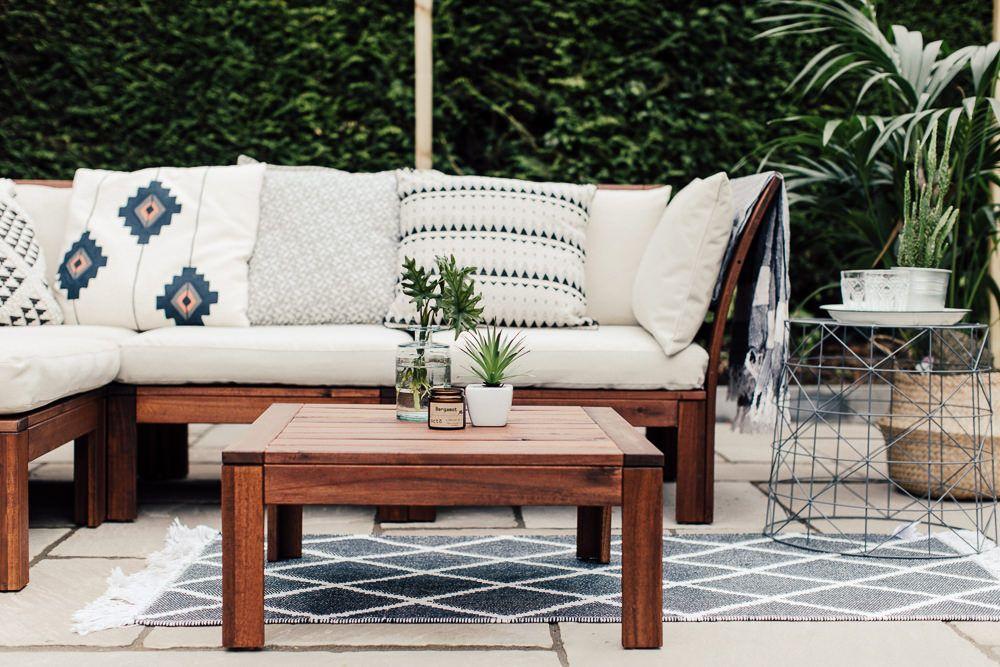 A Patio For Lounging Ikea Outdoor Outdoor Sofa Ikea Patio