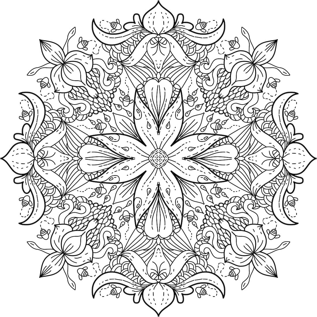 Picture of wildflower meadow coloring page coloring floral
