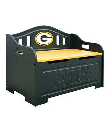 Look at this #zulilyfind! Green Bay Packers Storage Bench by Fan Creations #zulilyfinds
