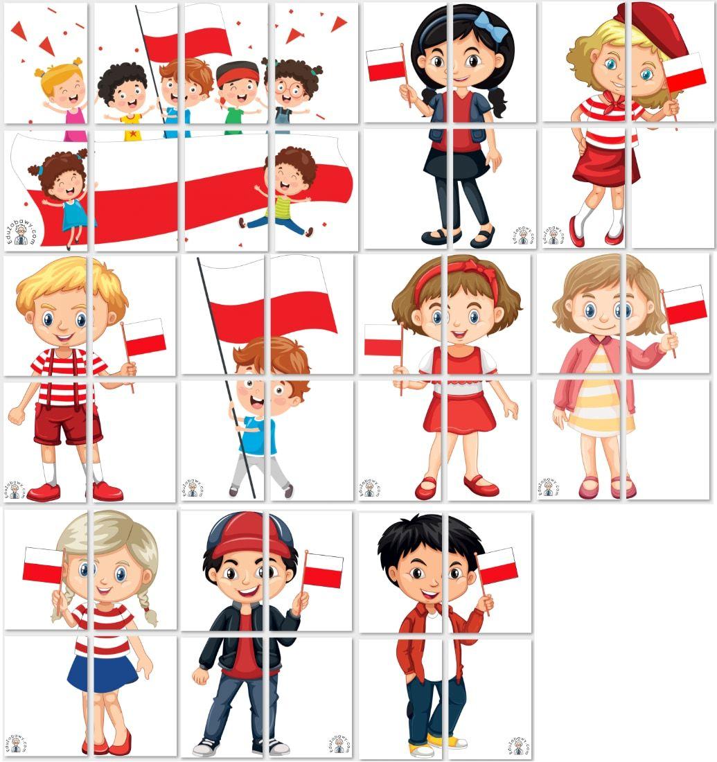 Dekoracje Xxl Dzieci Z Flaga Dekoracje Swieto Niepodleglosci Swieto Niepodleglosci Crafts For Kids Kids Crafts