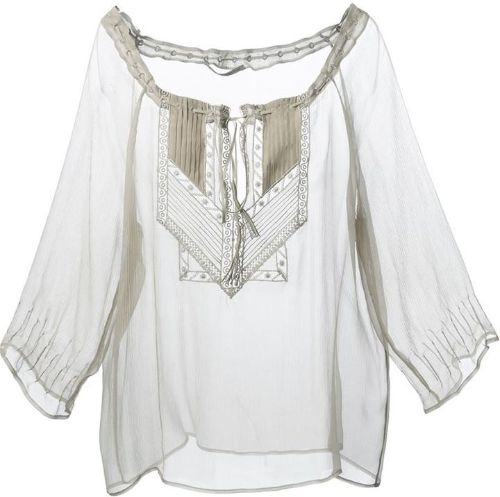 67dc72b575c Ermanno Scervino sheer tunic on shopstyle.co.uk