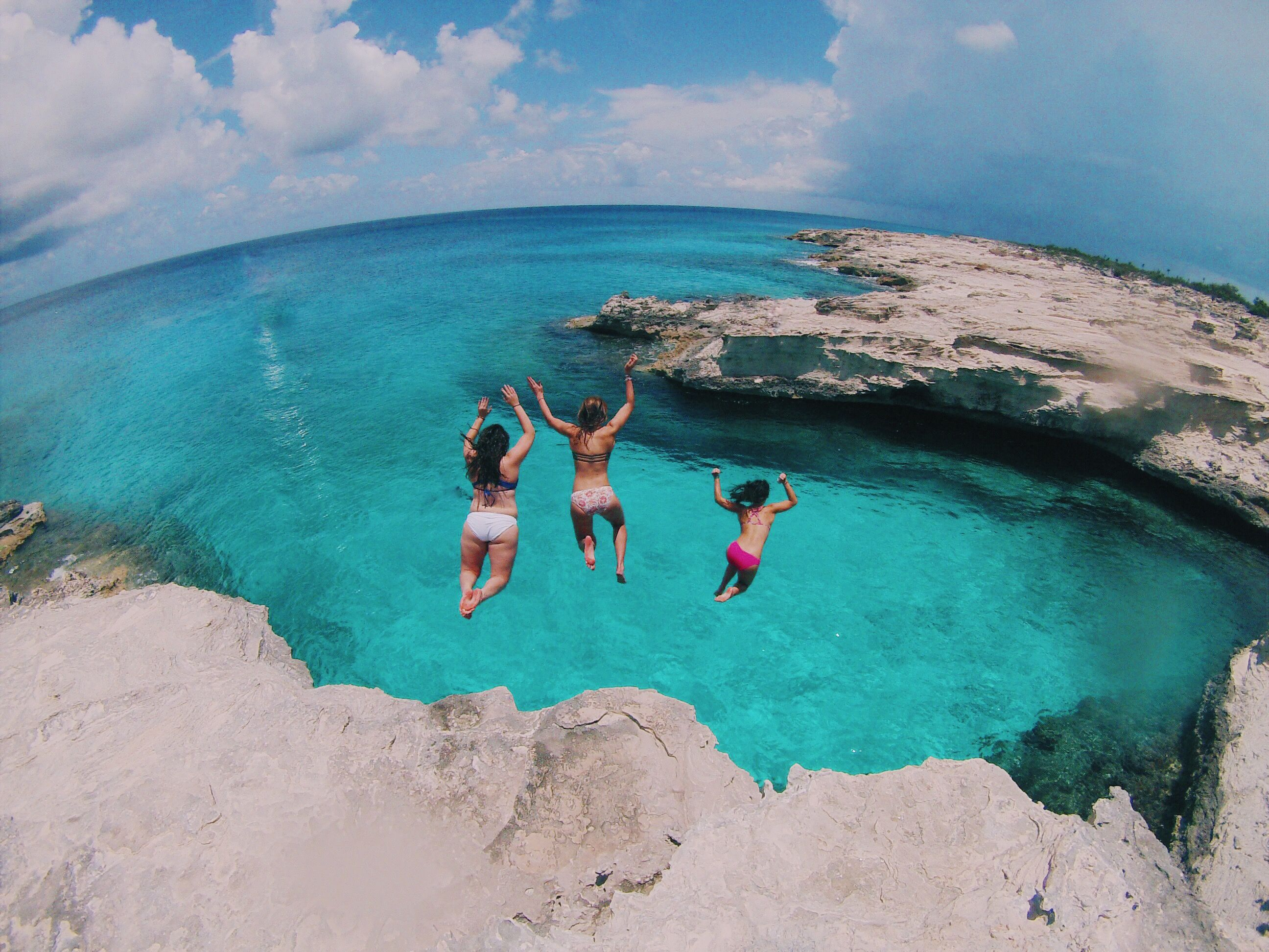 cliff jumping west caicos