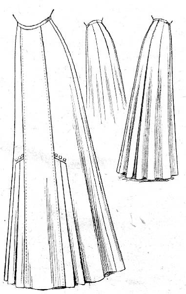 Seven Gored Skirt Mccall 1909 This Is A Rough Diagram More Than