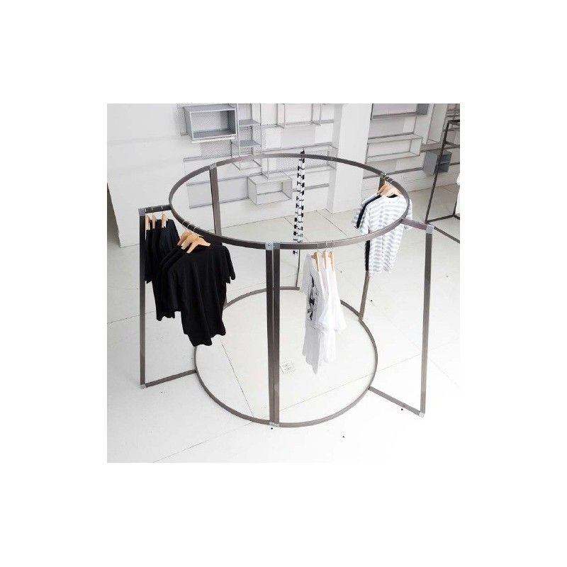 portant pour v tement professionnel en acier brut d couvrez nos agencements de magasin de pr t. Black Bedroom Furniture Sets. Home Design Ideas