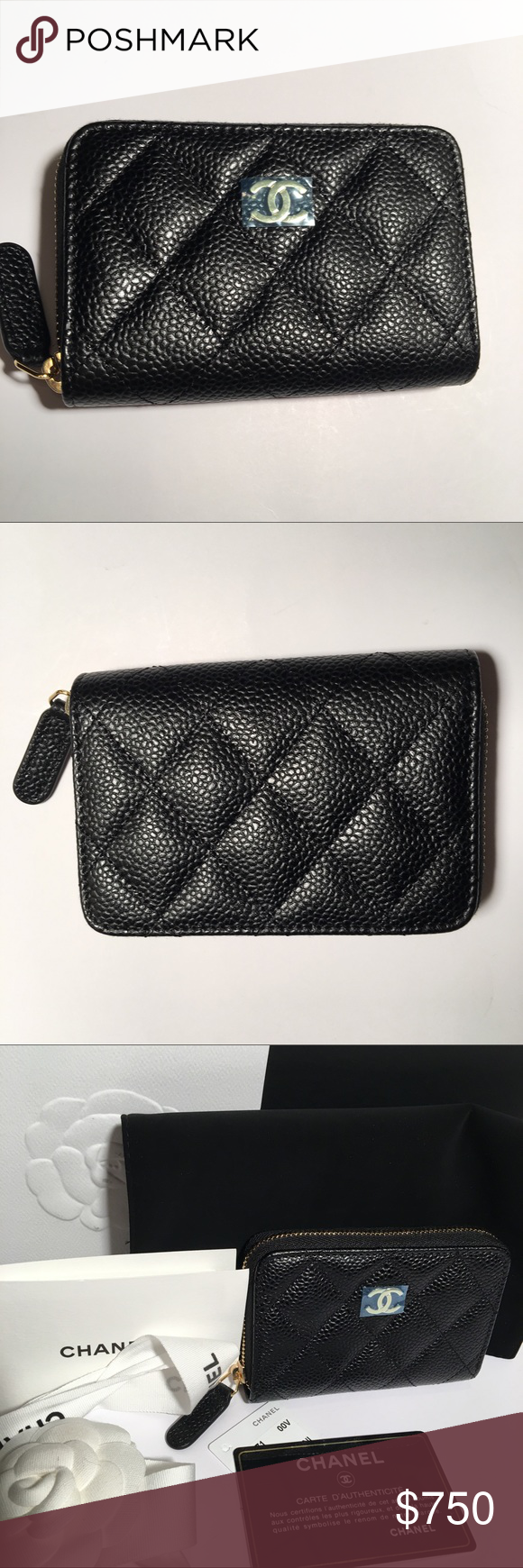 a1310782eee0 Bn Chanel Classic Zippy O Coin Purse Brand New Chanel Classic Zippy Wallet  in Black Caviar Leather with Gold Hardware. Purchased directly from Chanel  ...