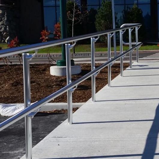 Best Al Ada Handrail Aluminum Handrail Wall Railing Stairs 400 x 300