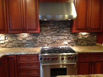 Cobblestone Backsplash Natural Stone Backsplash Design Ideas Pictures Remodel And Decor Stone Backsplash Kitchen Stone Backsplash Stone Tile Backsplash