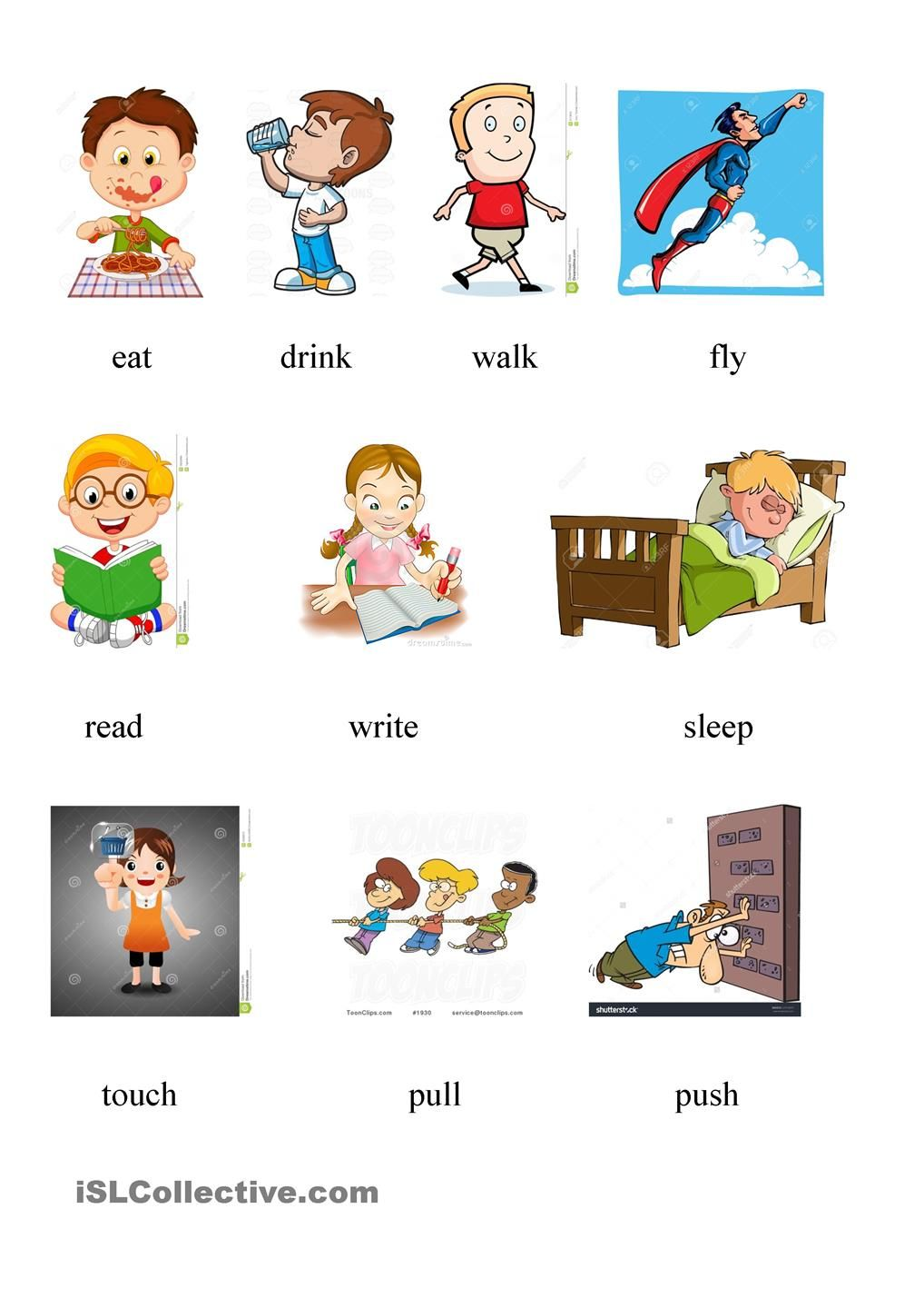 worksheet Push And Pull Worksheets For Kindergarten avtion verbs 2 pinterest action worksheets and adverbs worksheet free esl printable made by teachers