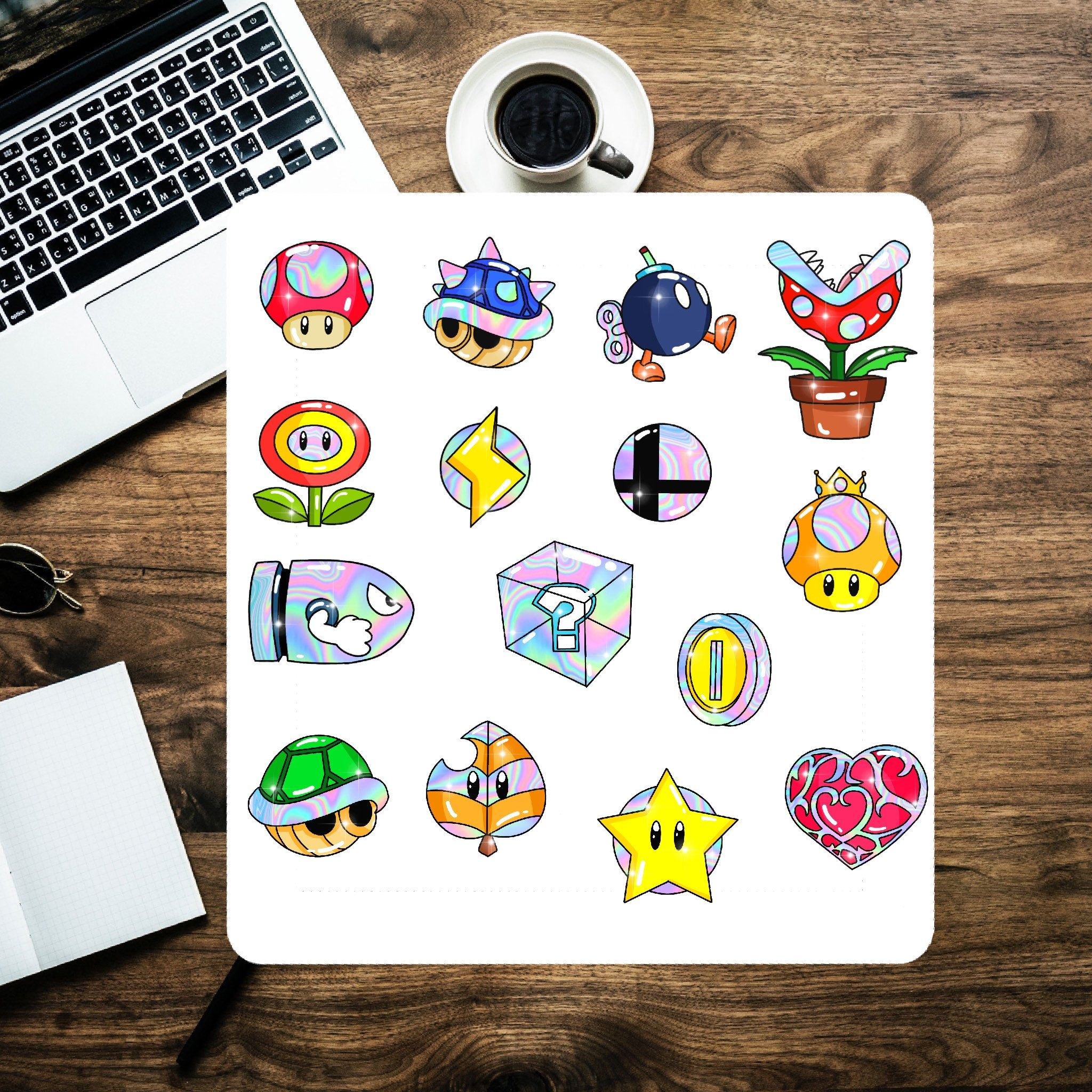 Nintendo Sticker Pack 15 pcs Items Decorative Flakes