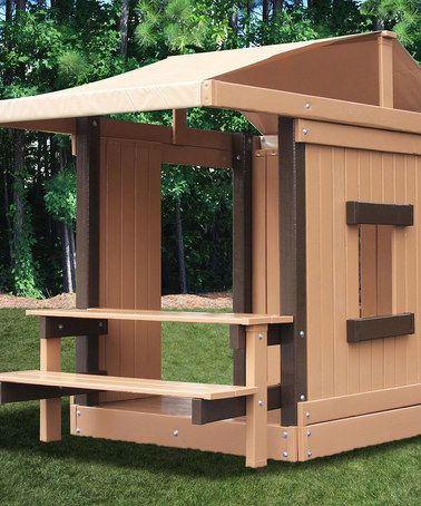 "Add to ""blue prints"" for pallet play house! An indoor-outdoor bench! Take a look at this Picnic Table Clubhouse by KidWise on #zulily today!"