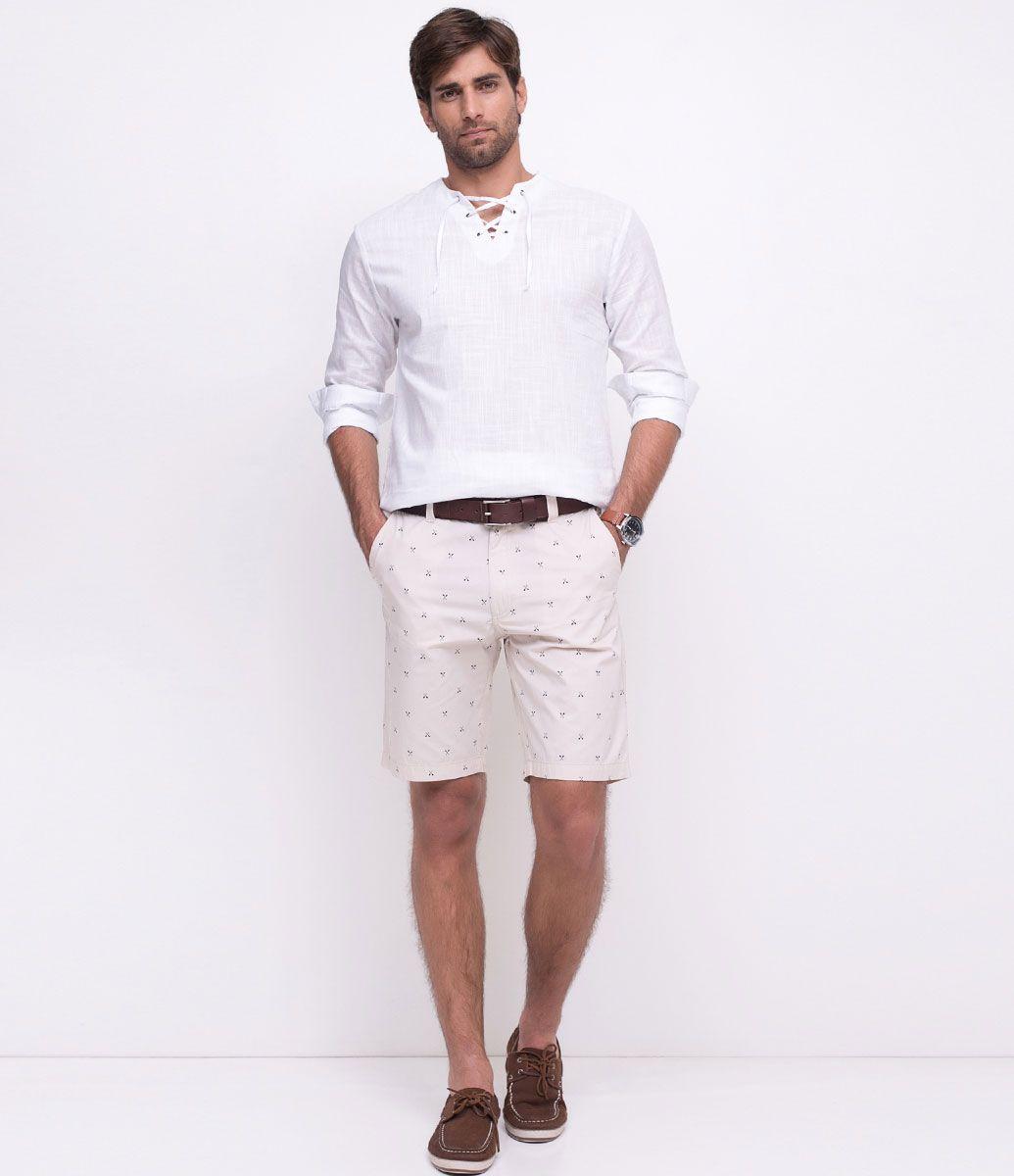 2925e9602bcd Camisa masculina Manga longa Gola padre Com amarração Marca: Marfinno  Tecido: Voal Composição: