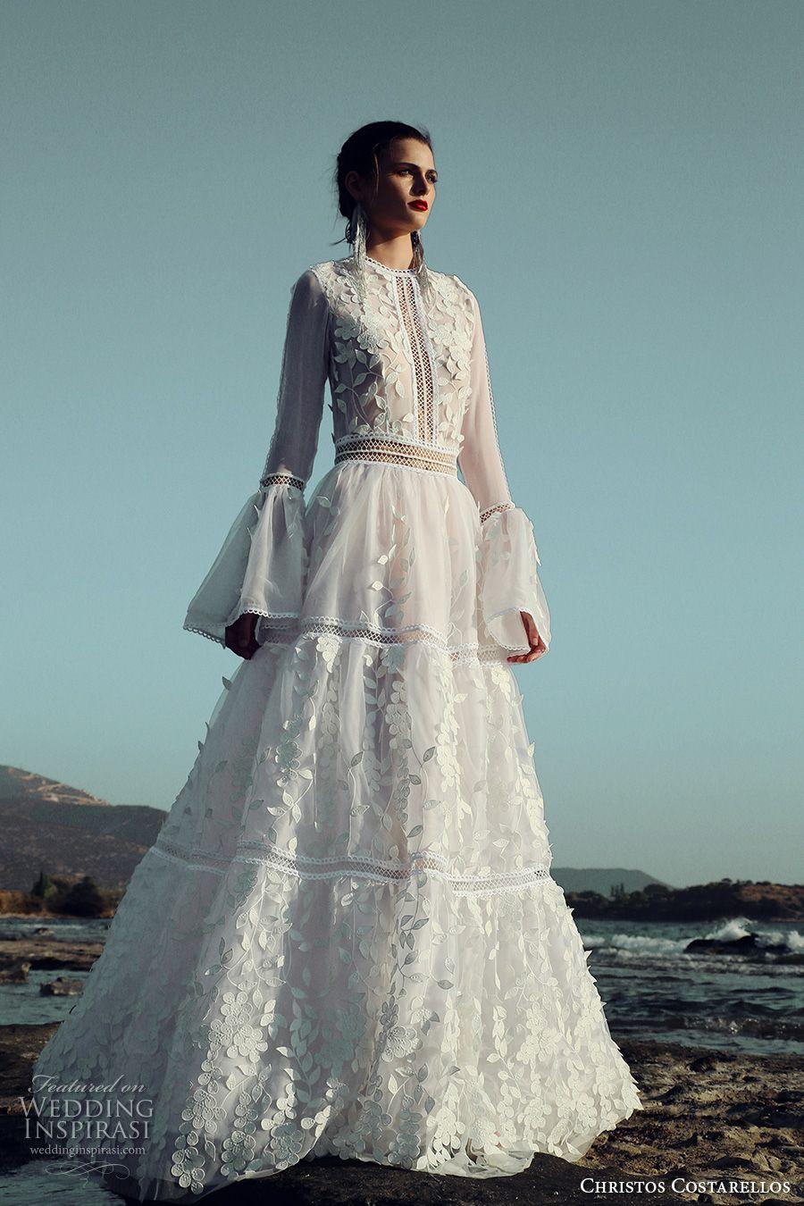 Christos Costarellos 2017 Wedding Dresses | Pinterest | Romantic ...