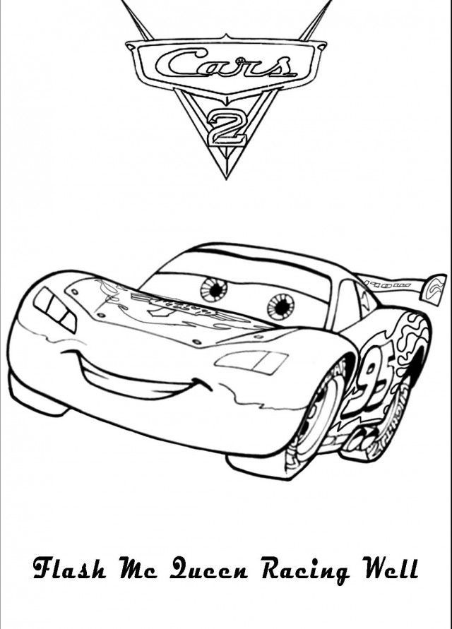 Lightning Mcqueen Coloring Pages To Print Coloring Home ...