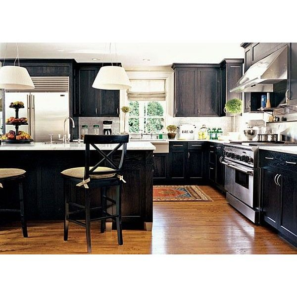 Stylish Black Kitchen Cabinets Toronto ❤ liked on Polyvore For