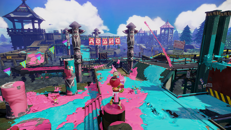 "Captura de pantalla del joc ""Splatoon"""