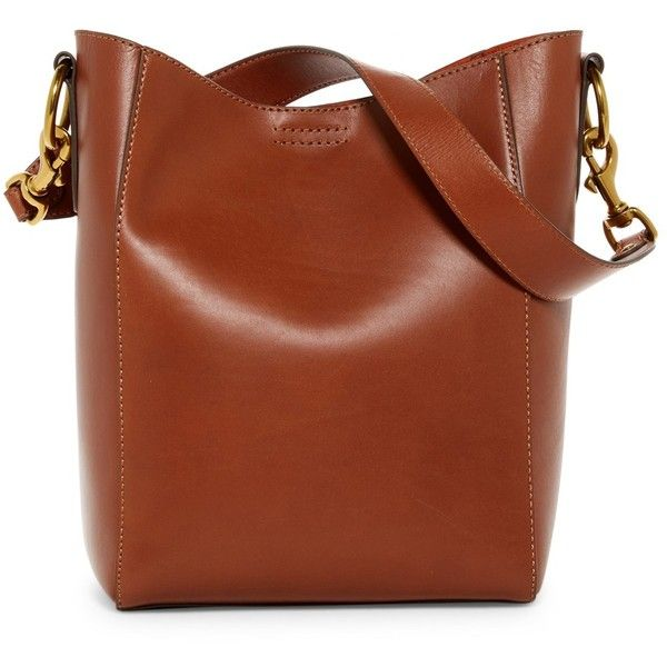 df65db4b4d Frye Harness Leather Bucket Bag ( 220) ❤ liked on Polyvore featuring bags