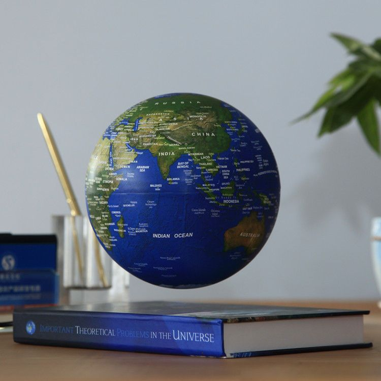 6 inch desk toy book educational magnetic levitation floating globe 6 inch desk toy book educational magnetic levitation floating globe world map unbranded gumiabroncs Images