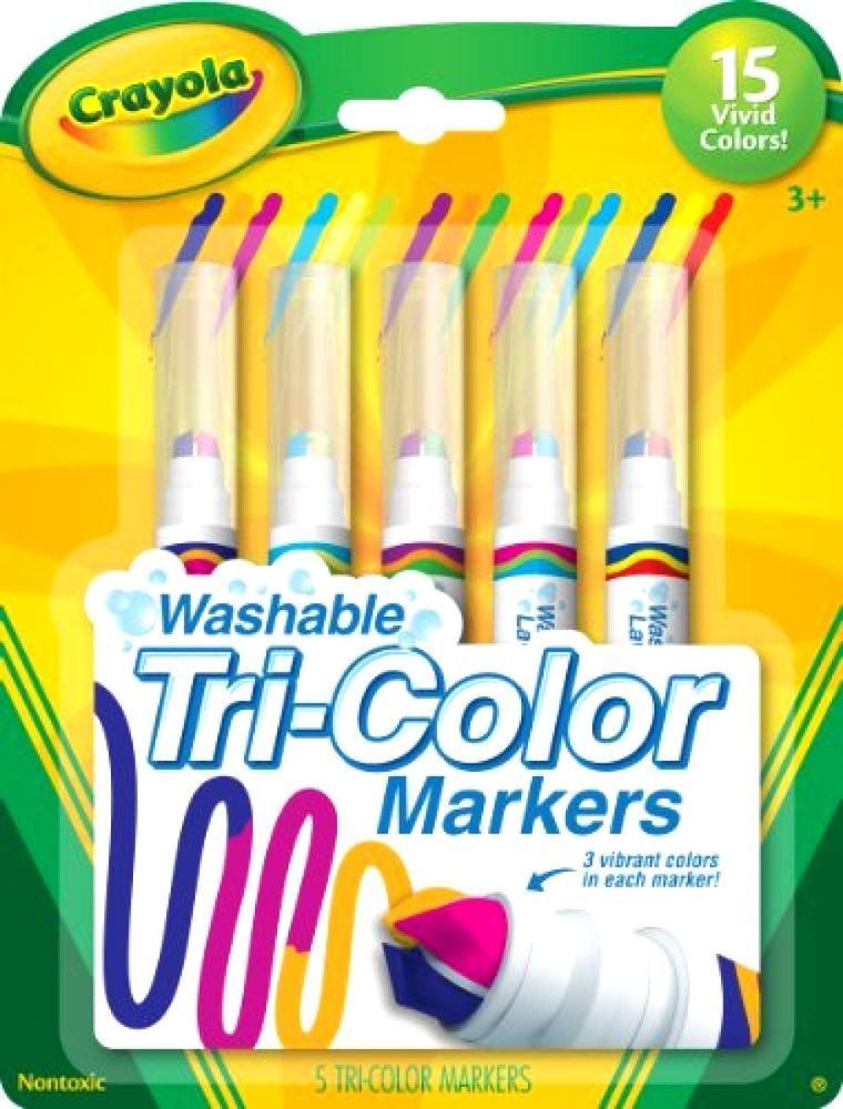 Crayola Washable Markers Art Supplies Tri Color 5pcs Crayola