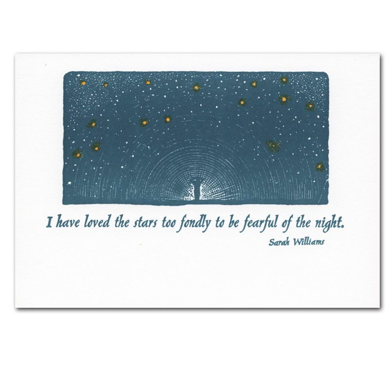 Sympathy Cards: Love for Stars - box of 10 letterpress cards & env ...