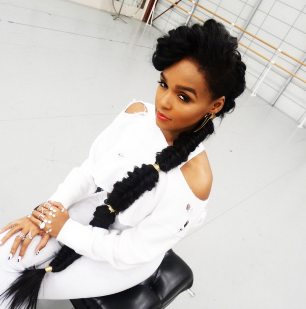 What To Wear With Janelle Monae S Long Fishtail Braid Natural Hair Styles Hair Styles Love Hair