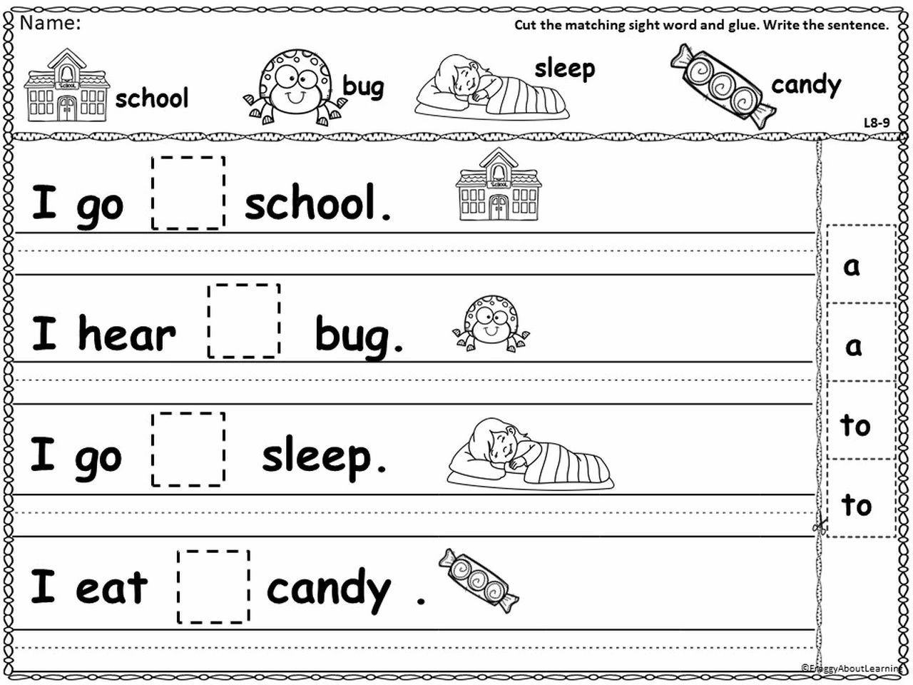 Kinder Sentence Fill In And Sentence Models Sight Word Practice Teaching Writing Word Sentences [ 960 x 1280 Pixel ]