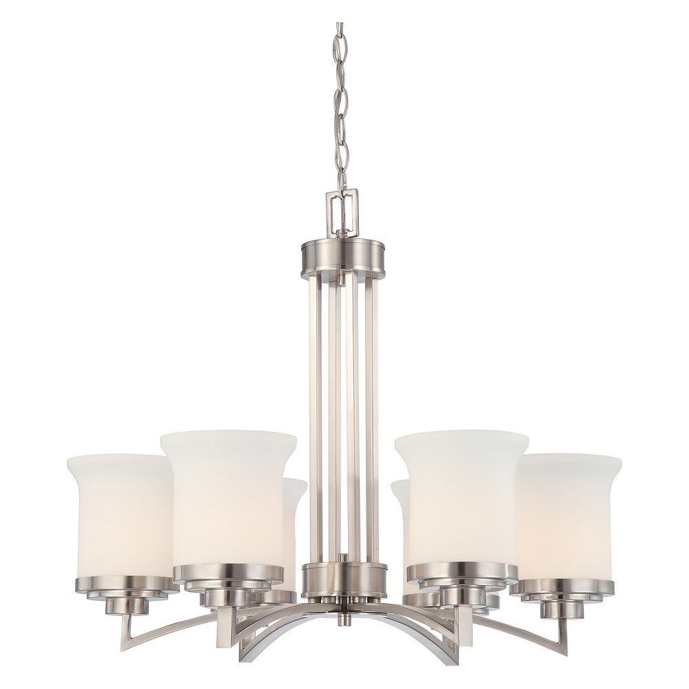 Ceiling Lights Chandelier Brushed Nickel Aurora Lighting